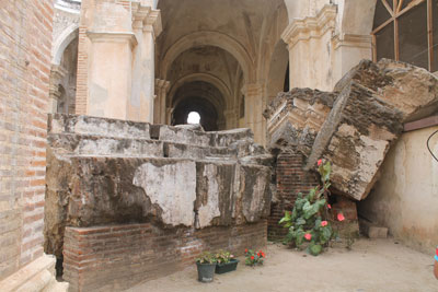 Cathedral ruins in Antigua