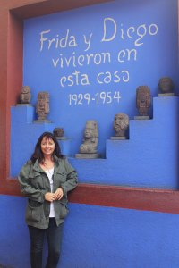 "Deborah at Frida Kahlo's ""blue house"""