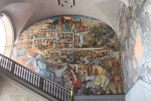 One of Diego Rivera's murals at the National Palace