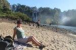 Sandy beach at Isla San Martin
