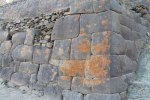 Ollantaytambo - detail showing how the stones are carved to fit together