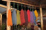 Dyed wool samples