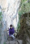 Deborah at end of trail to Inca Bridge