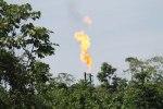 Gas flare along the Napo River