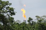 Gas flare along the Napo River
