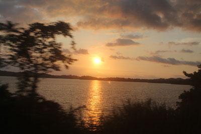 Sunset over the Panama Canal (Gatun Lake)