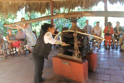 Sugar mill demonstration
