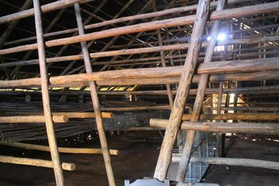 Drying racks inside barn