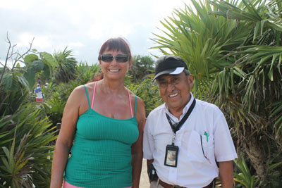 Deborah with our wonderful guide, Ricardo