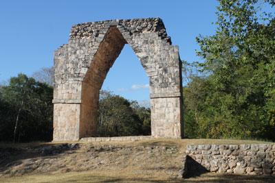 Kabah -- rebuilt entrance arch