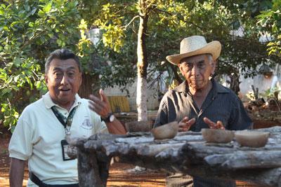 Ricardo translates description of Mayan ritual