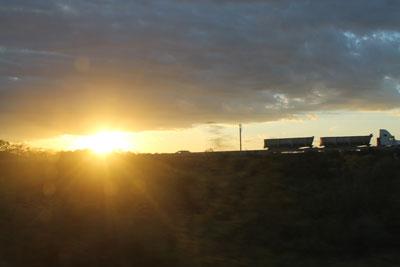 Sunset on the last night of 13 b'aktun