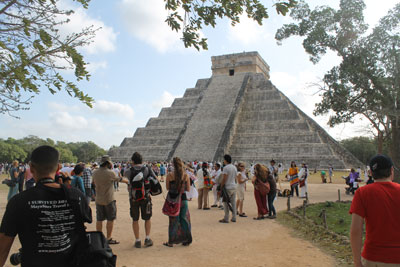 Chichen Itza - first view of El Castillo (The Castle)