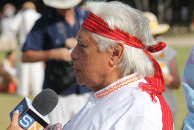 Chichen Itza - famous Mayan shaman being interviewed