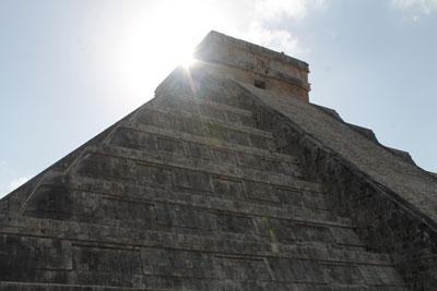 Chichen Itza - morning sun over El Castillo