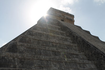 Chichen Itza - morning sun over El Castillo