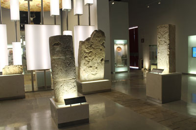 Inside the new Mayan museum in Merida