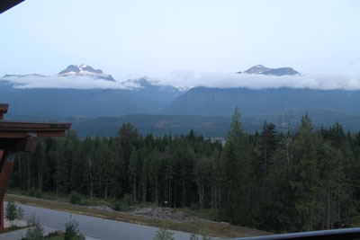 View from our room, Revelstoke