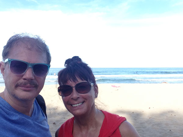 Here we are at Playa Cocles, 100 metres from our cabin