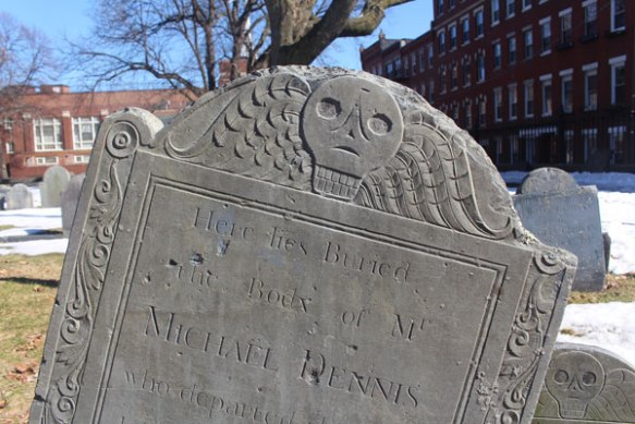 There are several very old cemeteries along the Freedom Trail