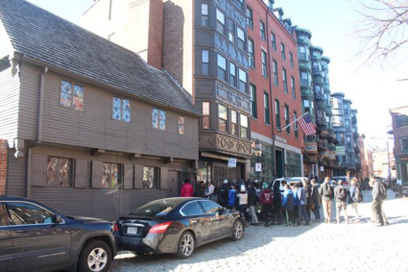 We passed several large walking tours, this one gathered in front of Paul Revere's house.
