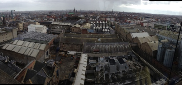 Dublin: View from the Gravity Bar at the Guinness Storehouse