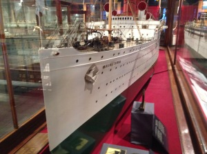 One of many large scale model ships on display
