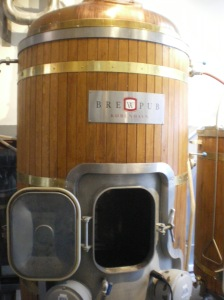Unique brewing tanks.